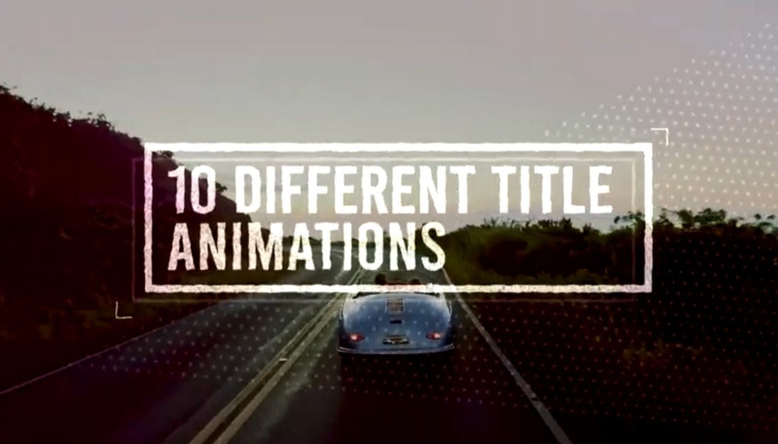 10 Free Animated Title Templates for Premiere Pro