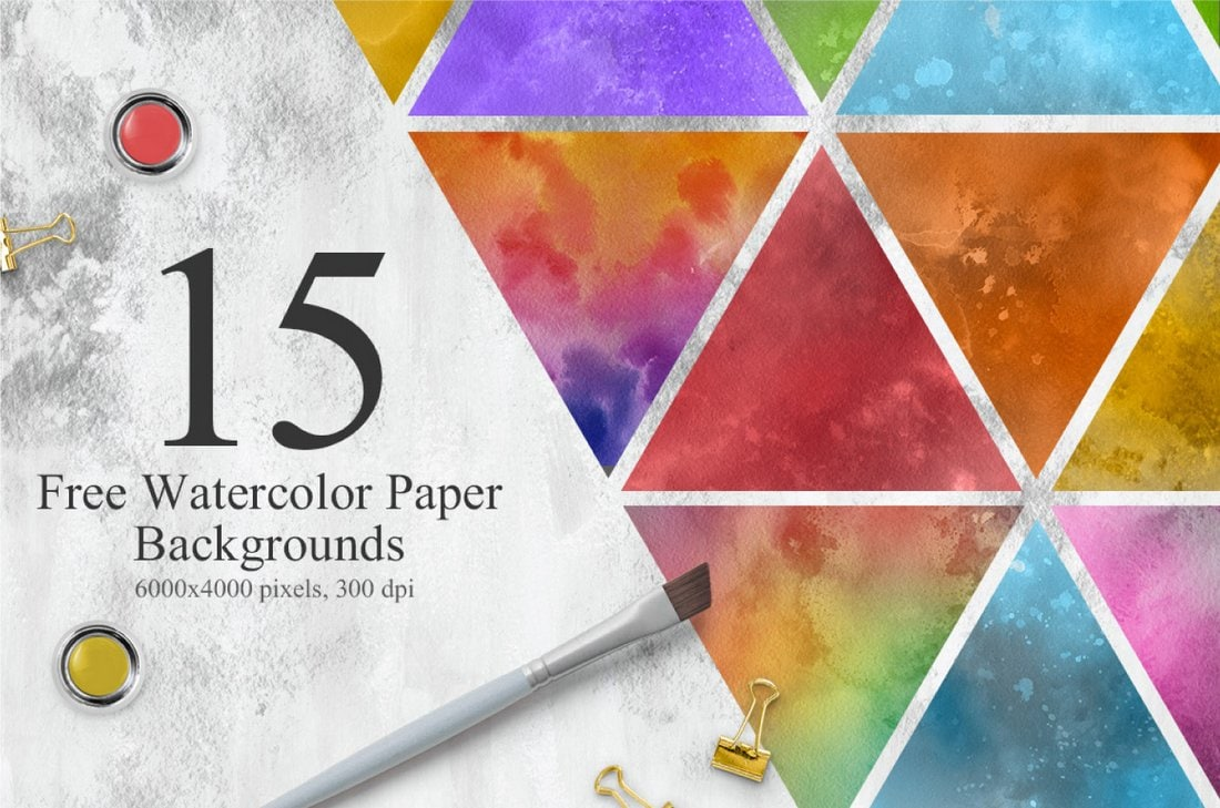 15 Free Colorful Watercolor Textures