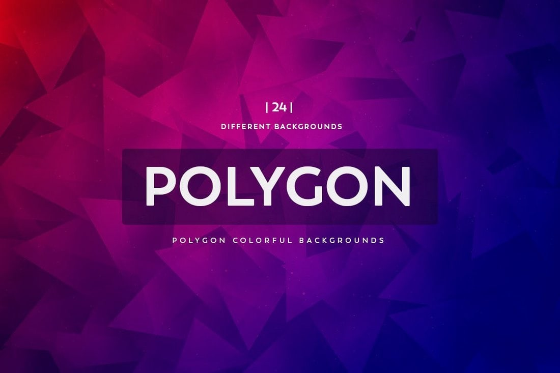24 Creative Polygon Backgrounds