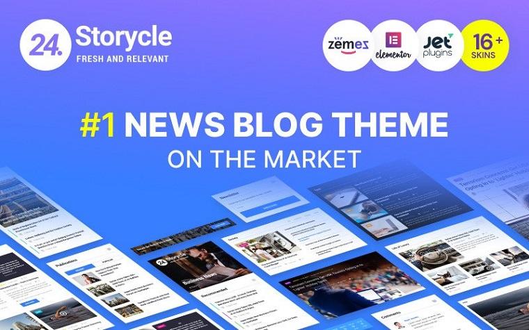 24.Storycle - Multipurpose News Portal Elementor WordPress Theme.