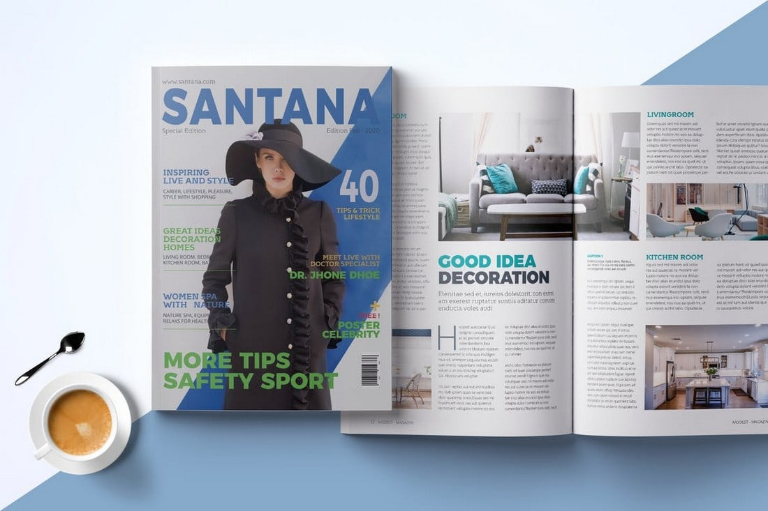 28-Page InDesign Magazine Template