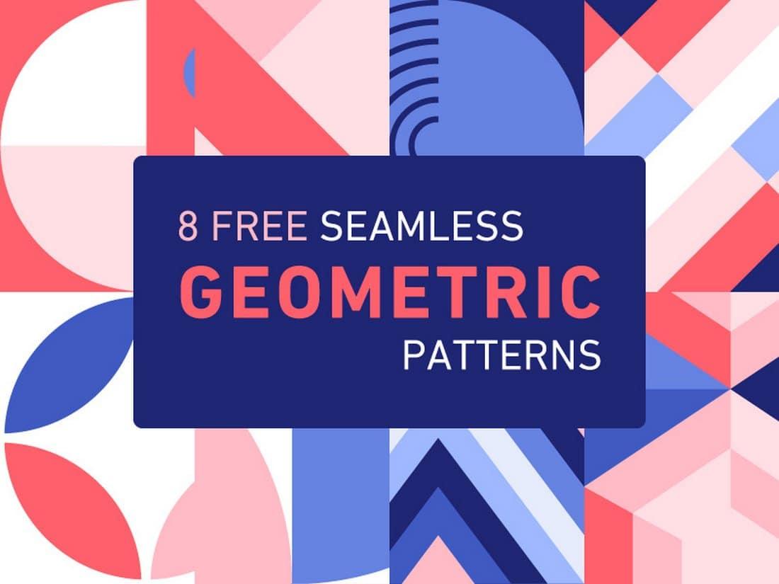 8 Free Seamless Geometric Patterns