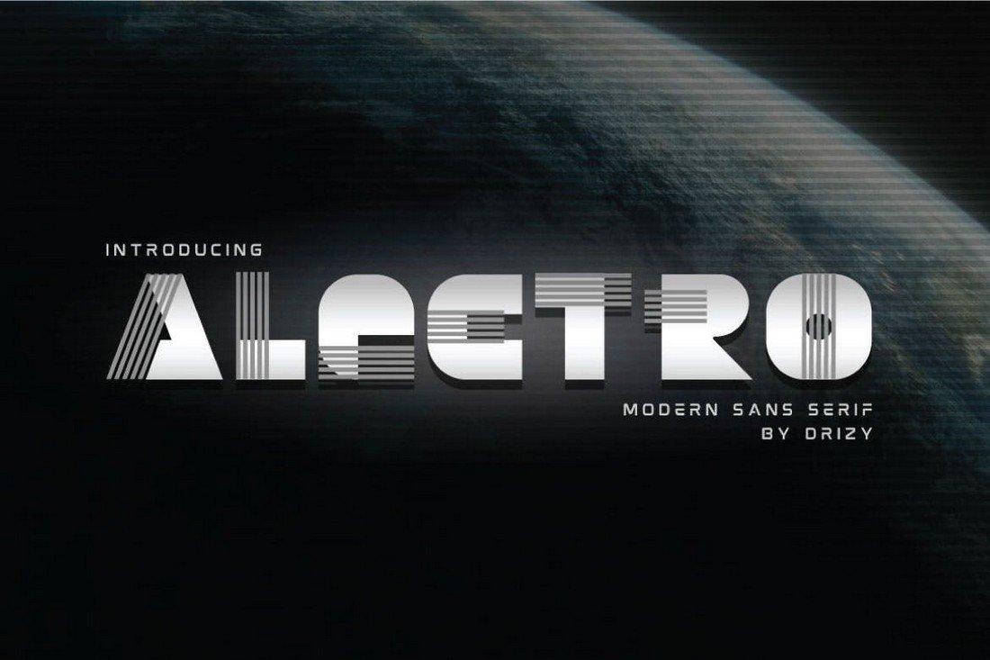 Alectro - Modern Sans Serif Font