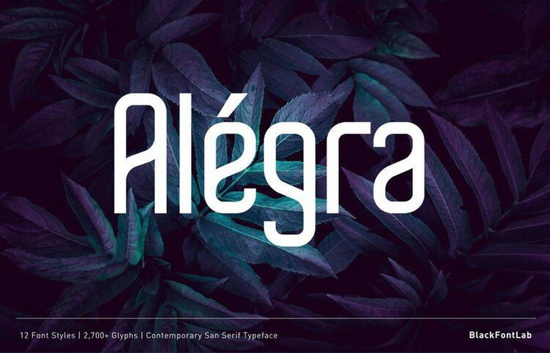 Alégra - Free Modern Sans Font