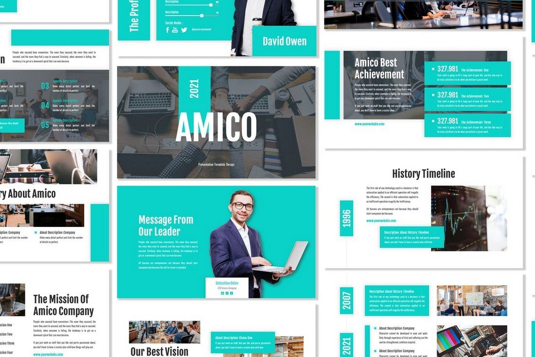 Amico - Corporate Business Google Slides Template