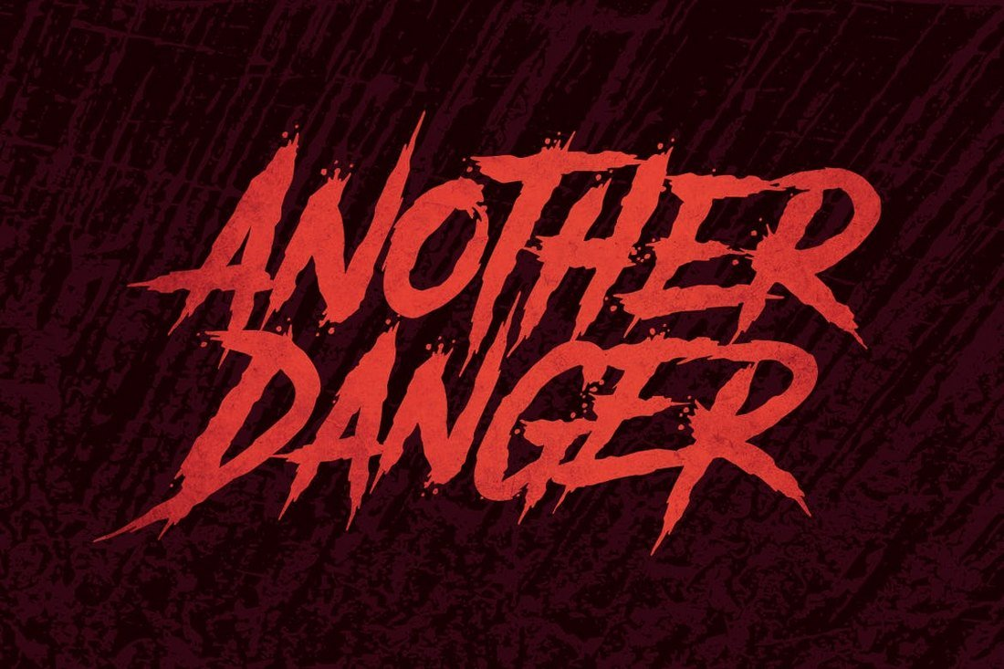 Another Danger - Halloween Font