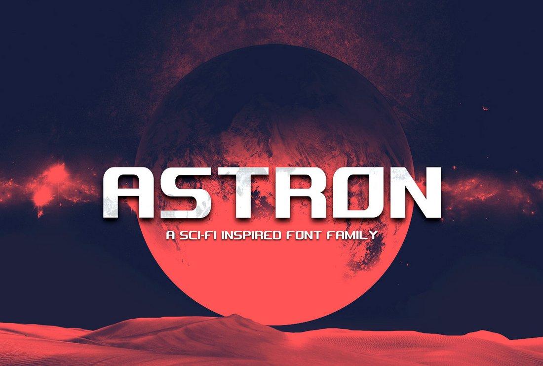 Astron - Free Sci-Fi Futuristic Font