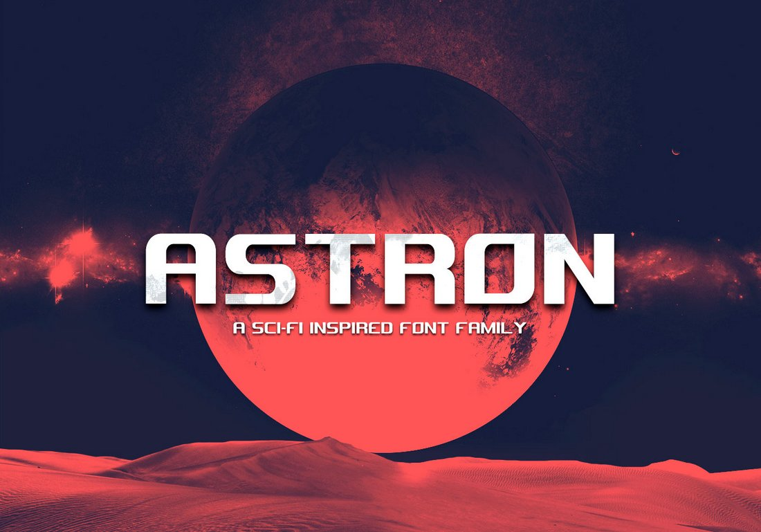 Astron - Free Sci-Fi Space Font