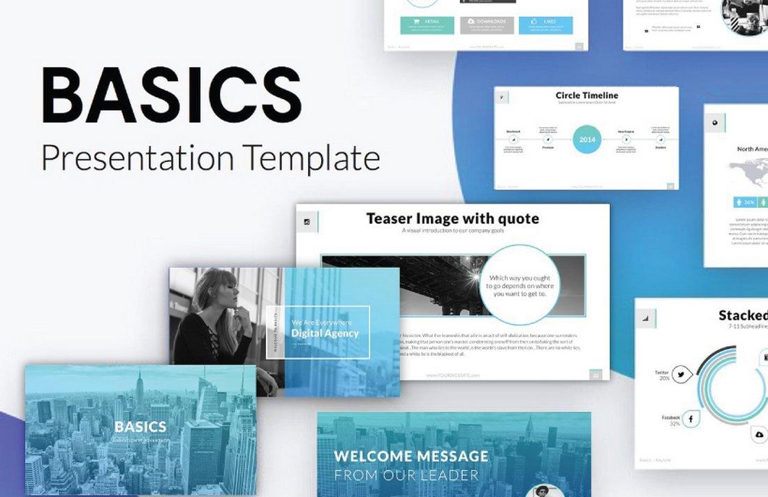 Basics - Free Professional Keynote Template