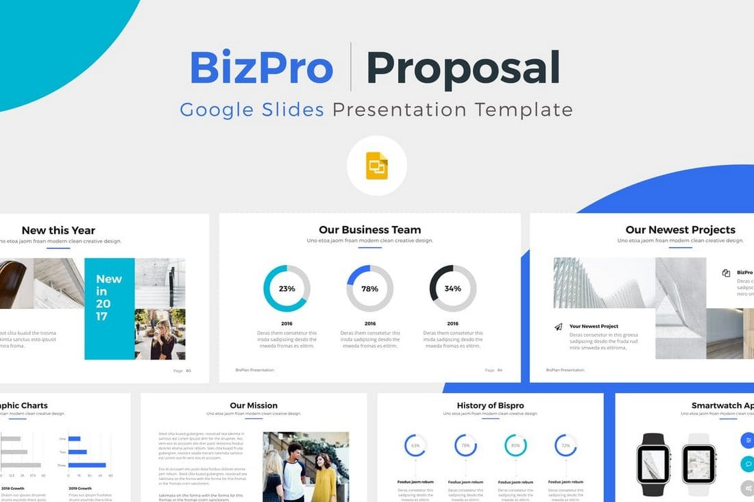 BizPro - Google Slide Presentation Template