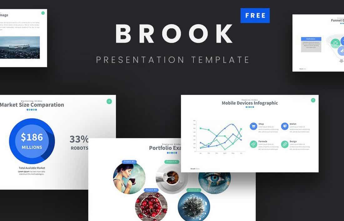 Brook - Free Google Slides Template