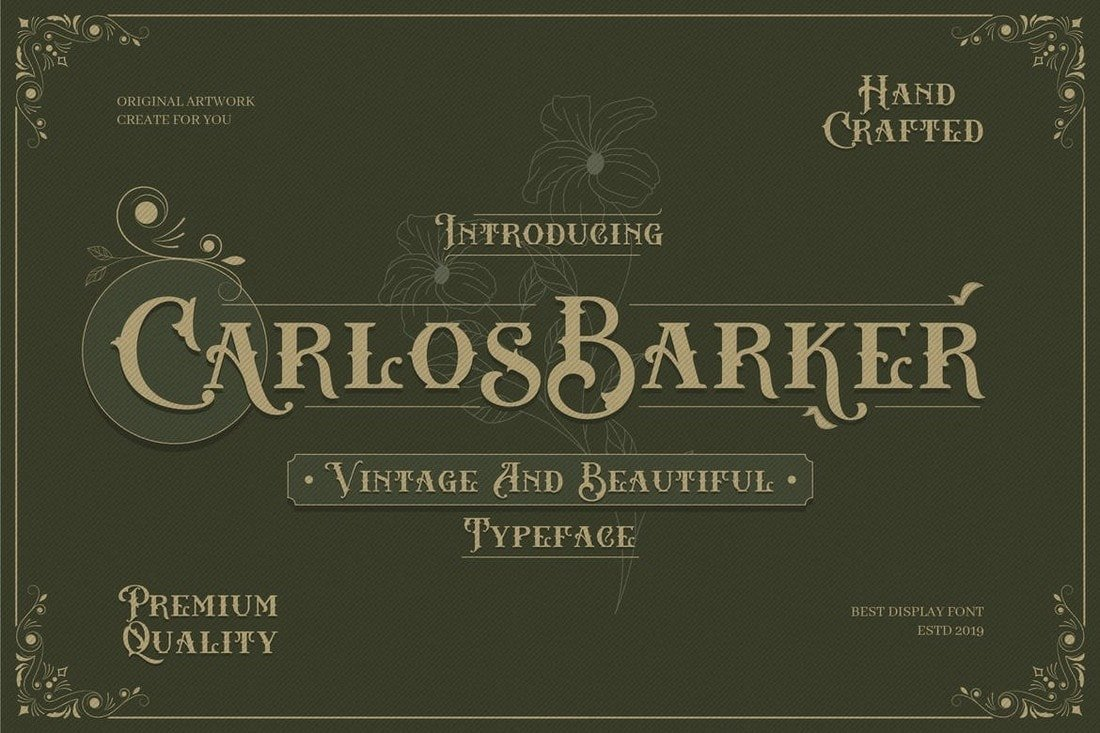 Carlos Barker - Vintage Victorian Font
