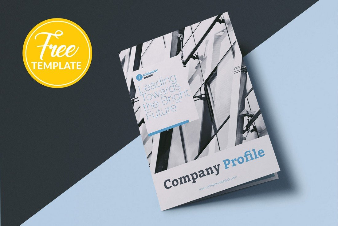Company Profile Free Affinity Publisher Brochure Template