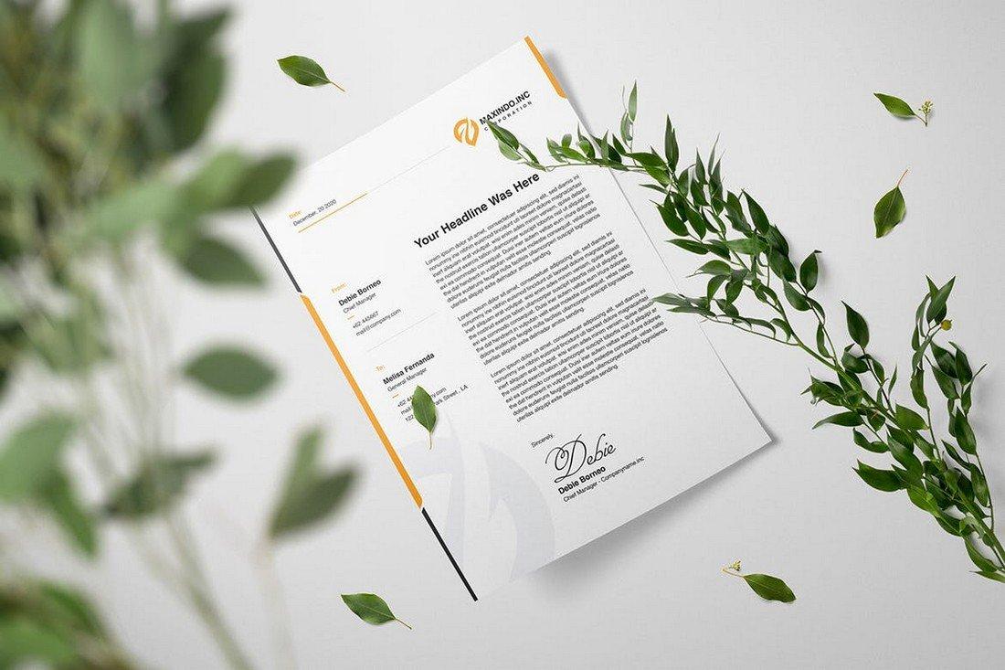 Corporate Business Letterhead Template
