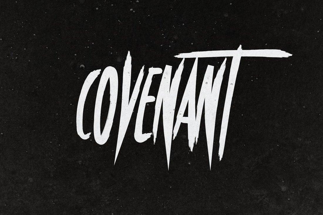 Covenant - Halloween Font