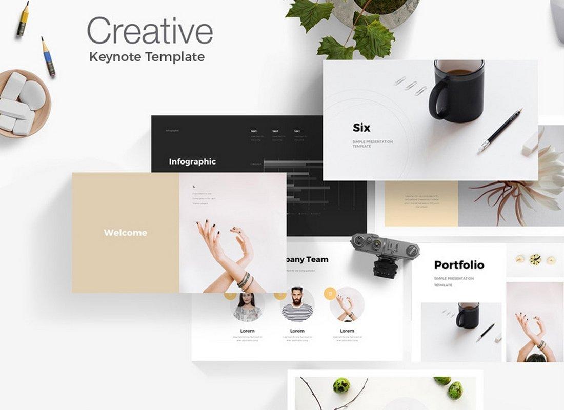 Creative Six - Free Keynote Template