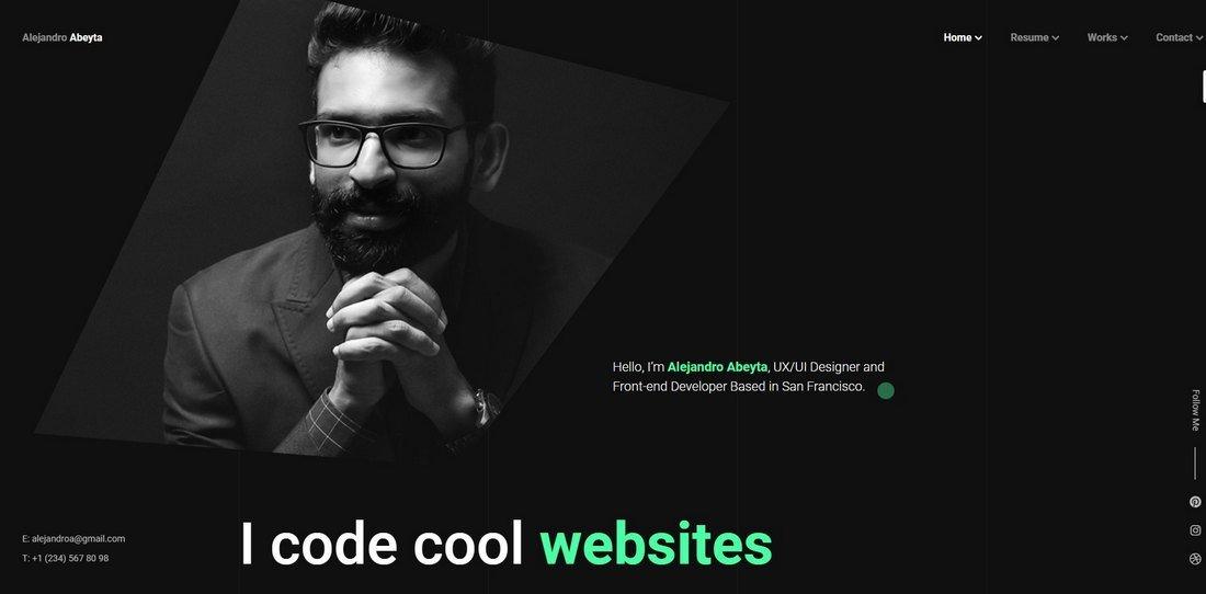 Cvio - CV Resume HTML Template