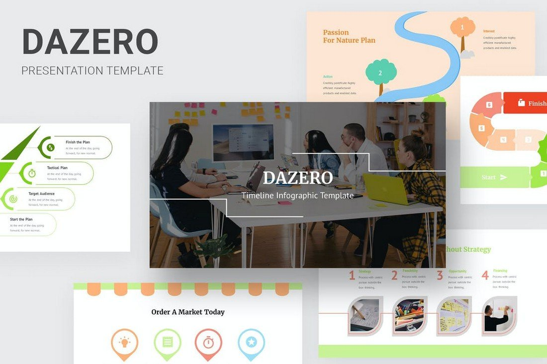 Dazero - Timeline & Infographic Powerpoint Template