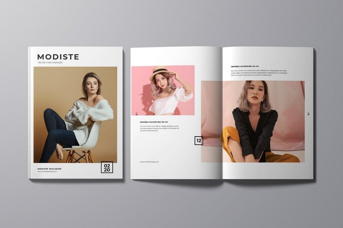 Designer Fashion Magazine InDesign Template