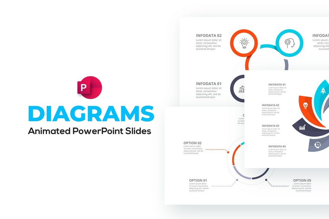 Diagrams & Flow Charts Animated PowerPoint Template