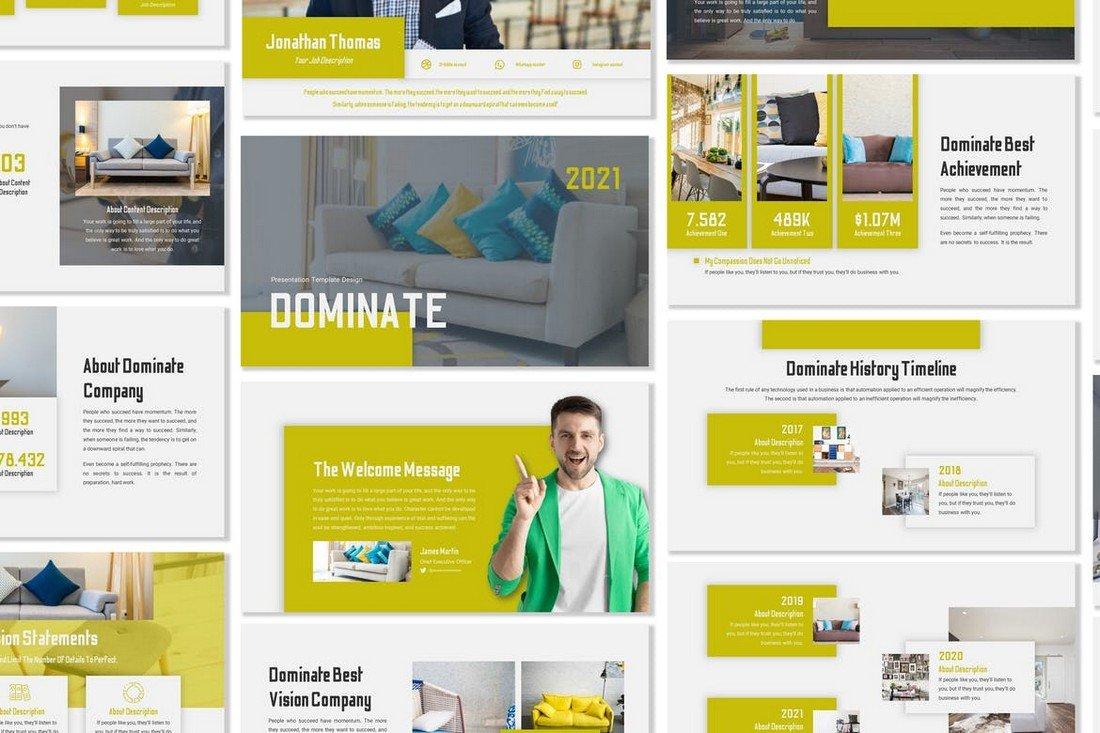 Dominate - Business Google Slides Template