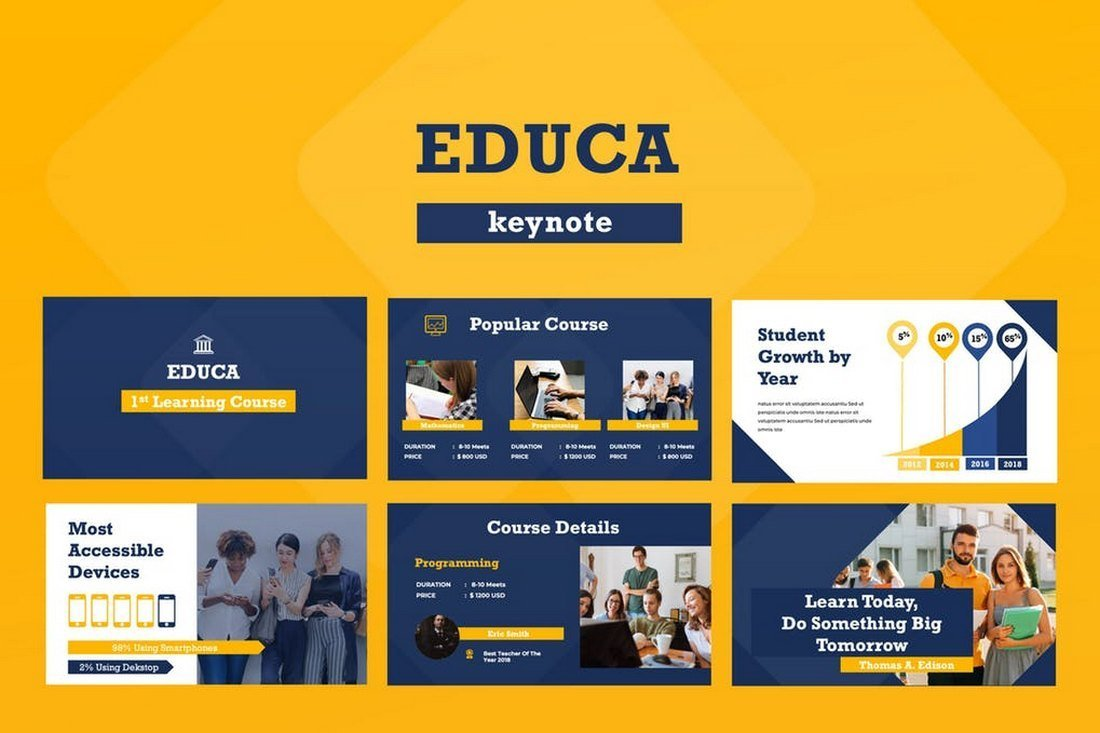 Educa Keynote Presentation Template
