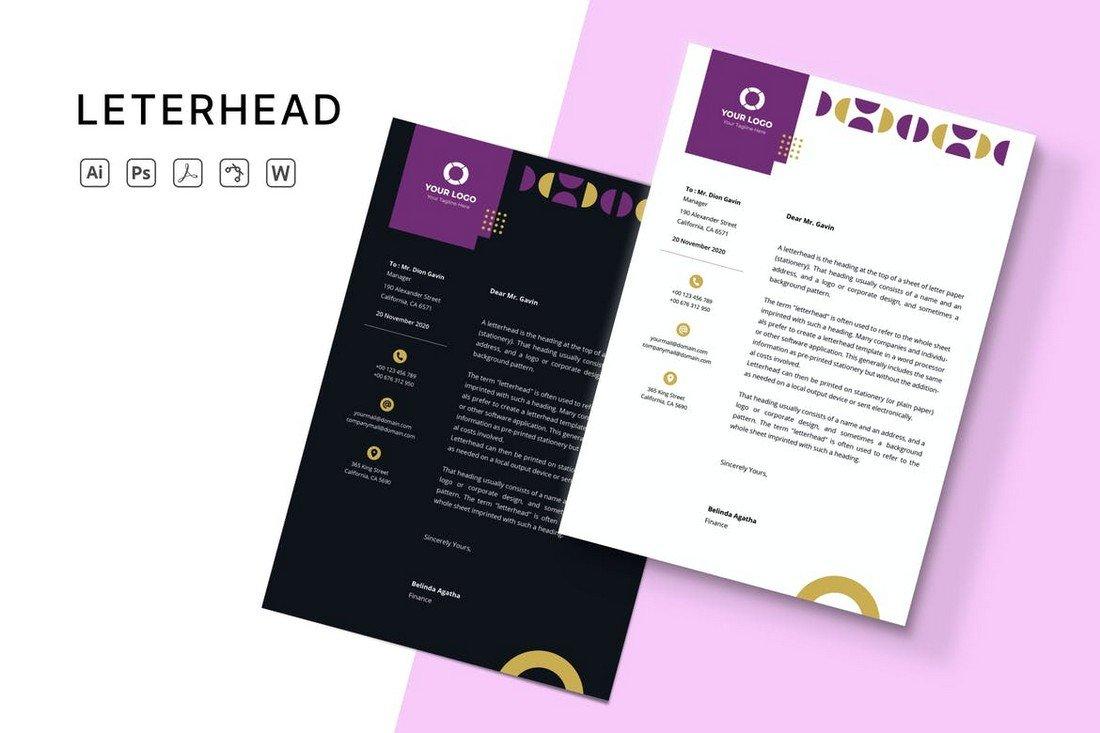 Elegant - Letterhead Design Template
