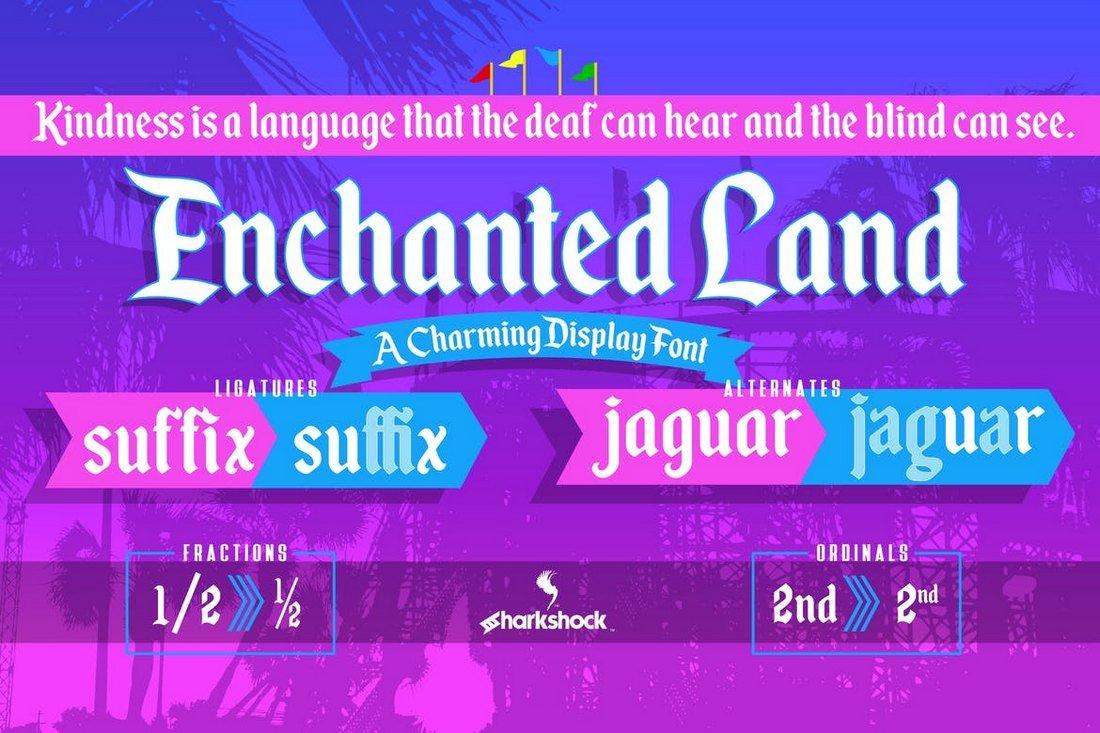 Enchanted Land - Serif Decorative Font