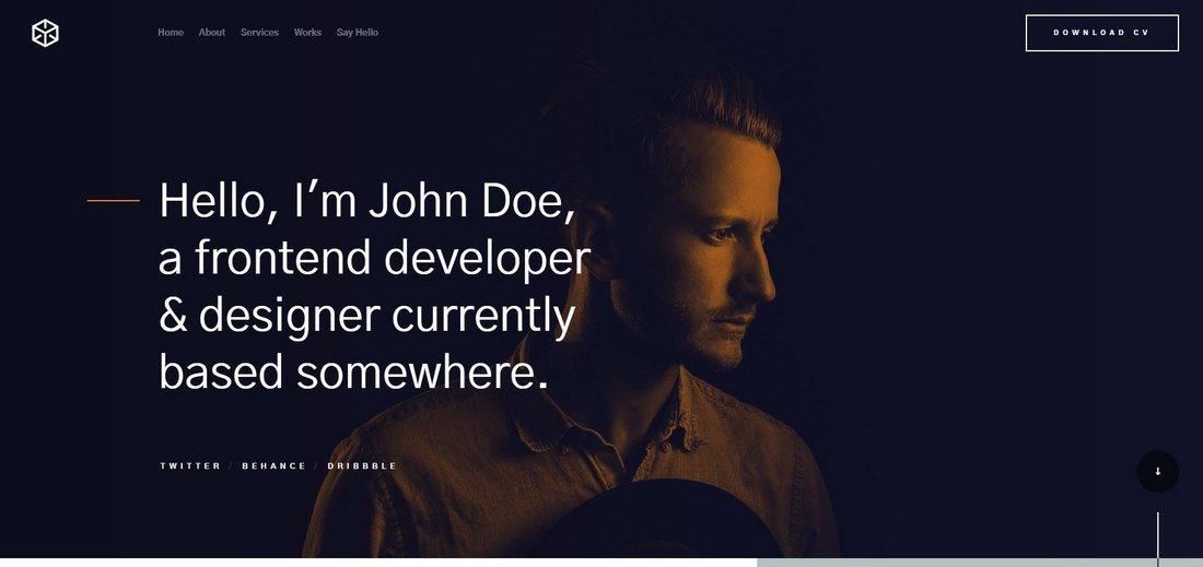 Ethos - Free Resume HTML Website Template