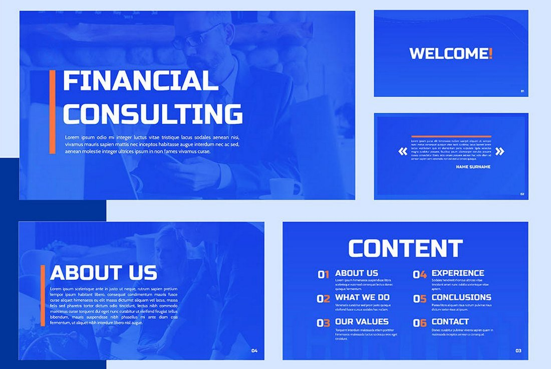 Financial Consulting - Free Google Slides Template