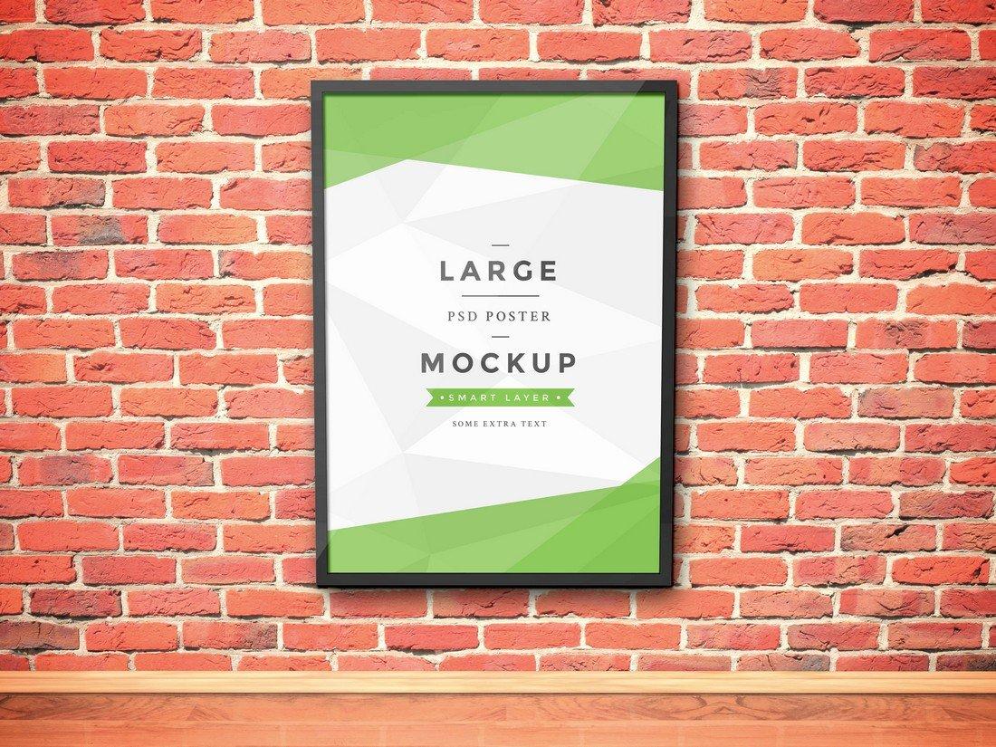 Free Artwork Frame PSD Mockup