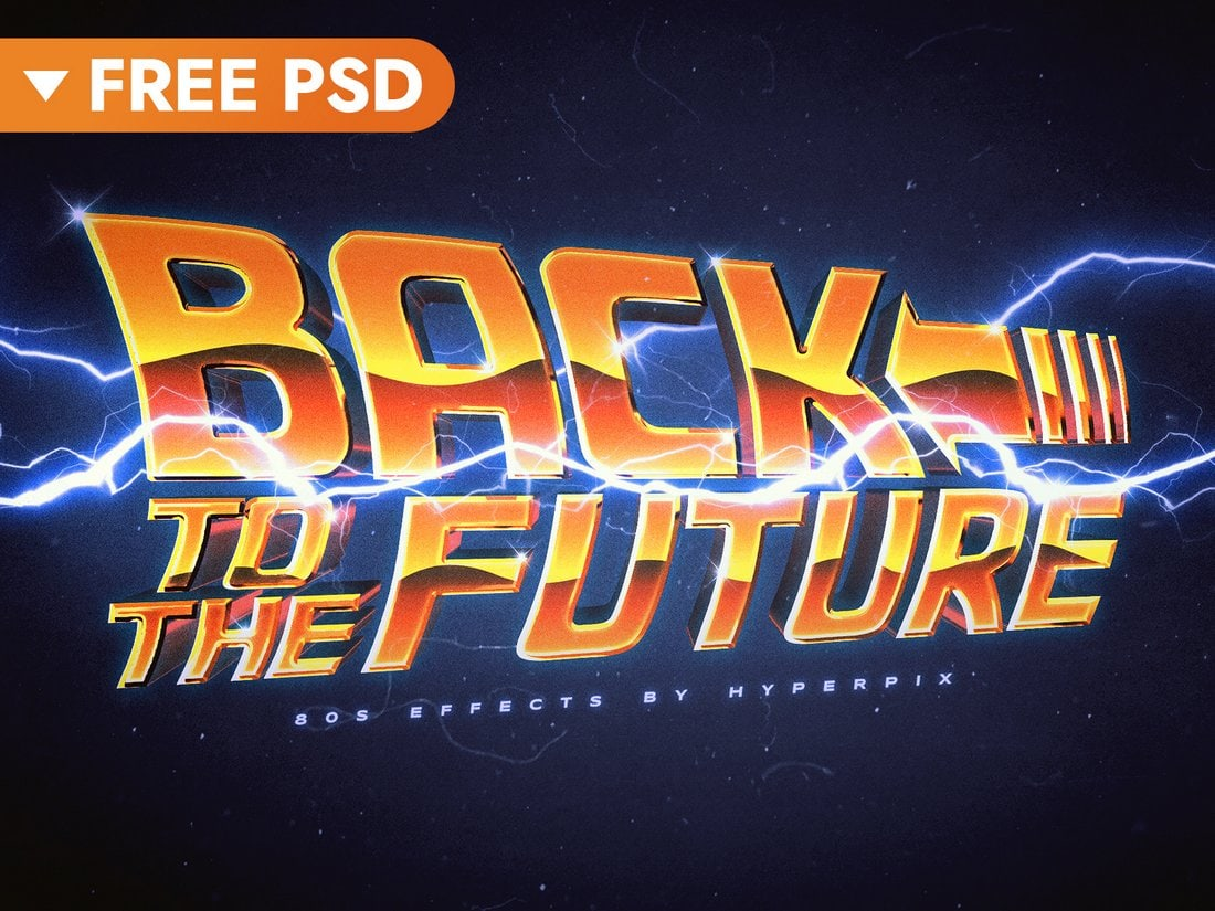 Free Back To The Future Text Effect