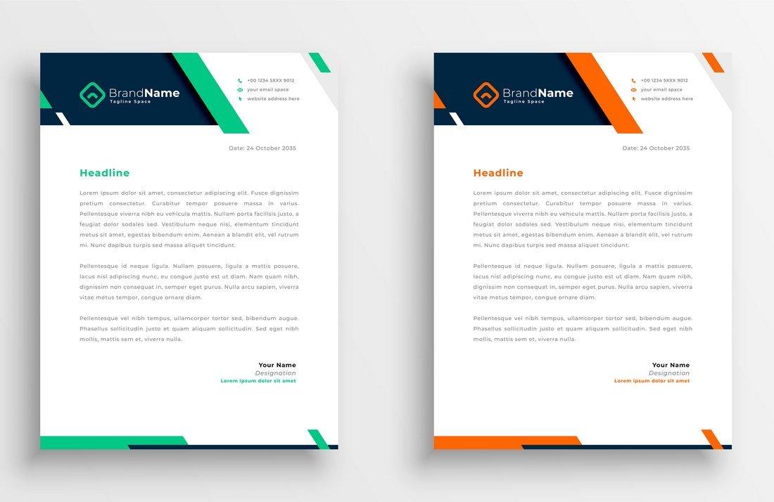 Free Business Letterhead Template