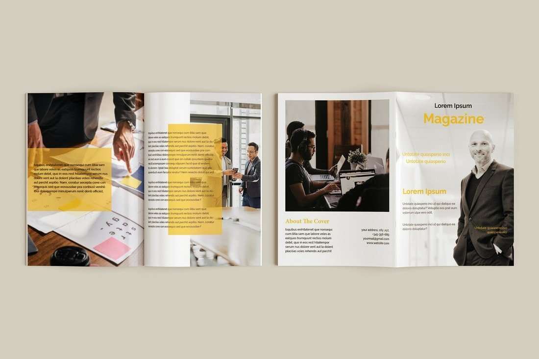 Free Business Magazine InDesign Template