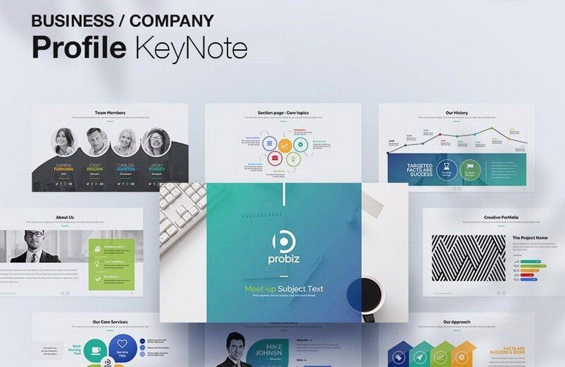 Free Business Profile Keynote Template