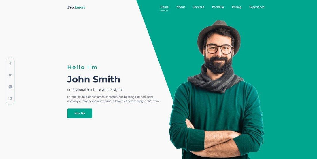 Free CV & Resume HTML Template