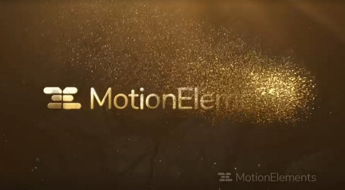 Free Gold Particles Logo Reveal Premiere Pro Template