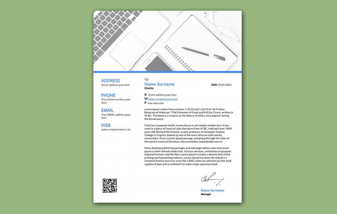 Free Letterhead Template for Google Docs