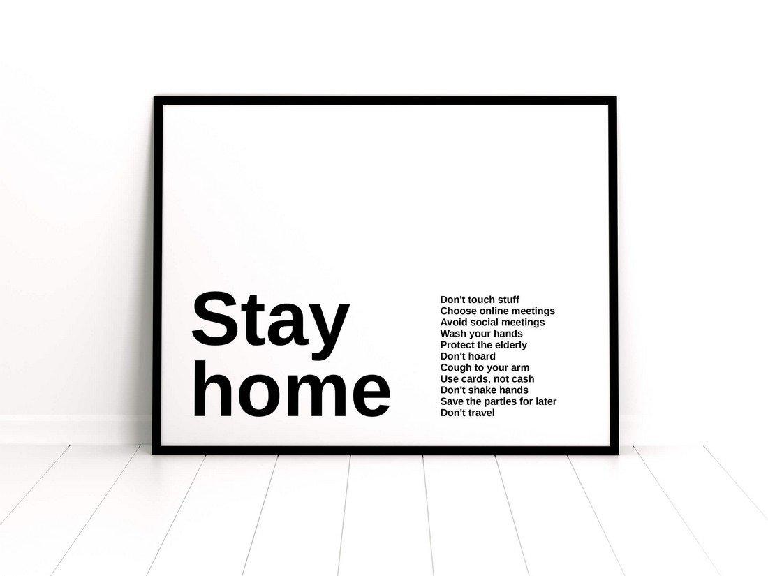Free Minimal Framed Poster Mockup
