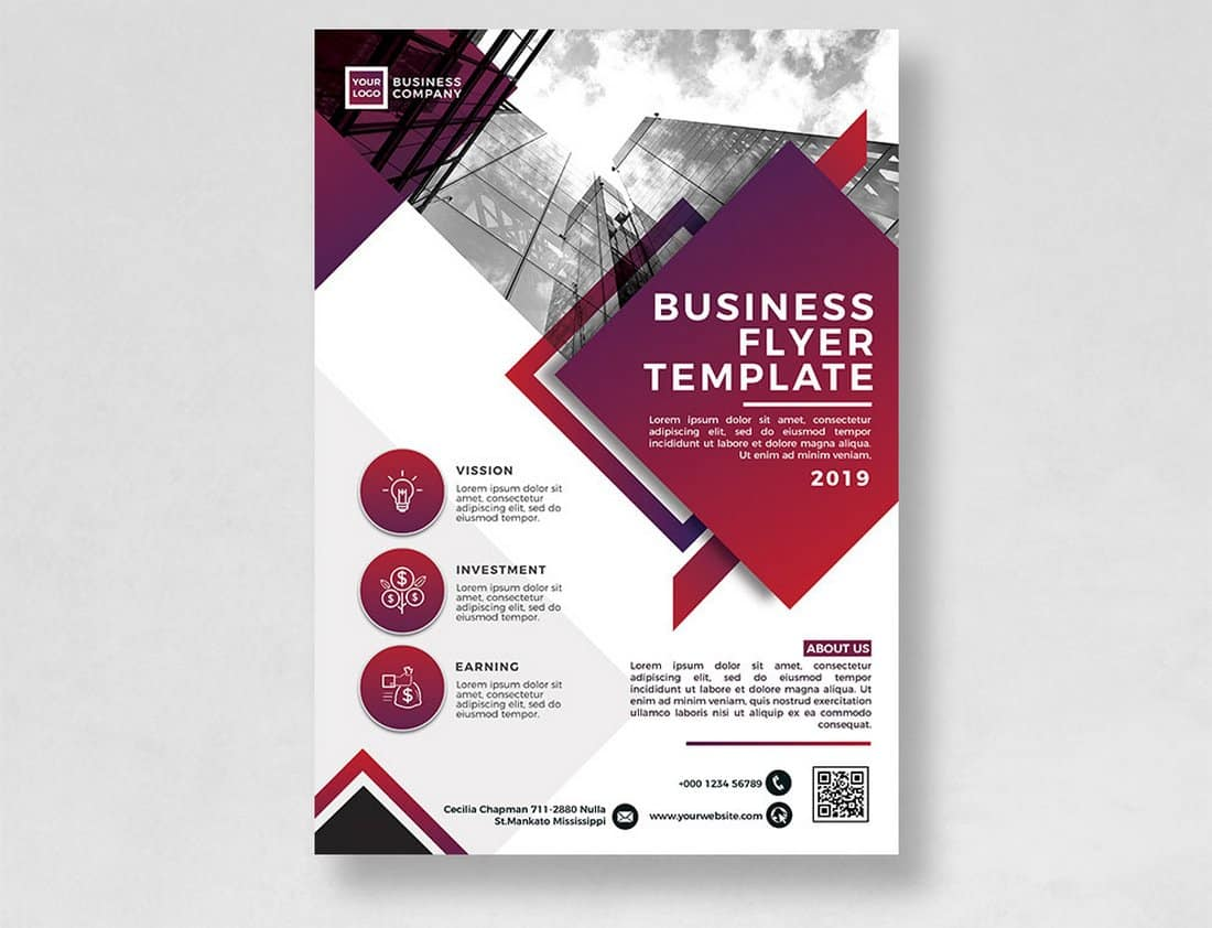 Free PSD Business Flyer Template
