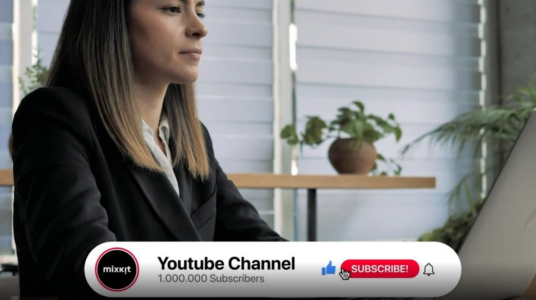 Free YouTube Animated Subscribe Buttons Template