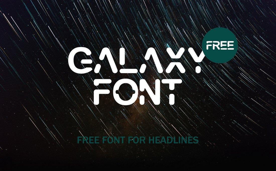 Galaxy - Free Futuristic Font