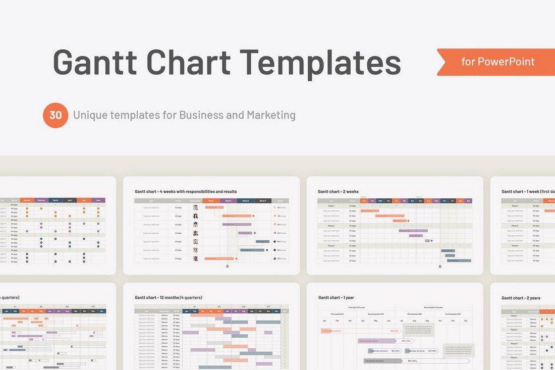 Gantt Chart PowerPoint Templates