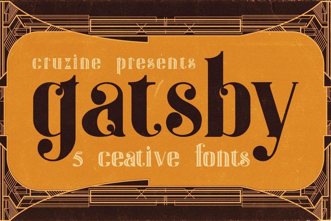 Gatsby - ArtDeco Tattoo Font