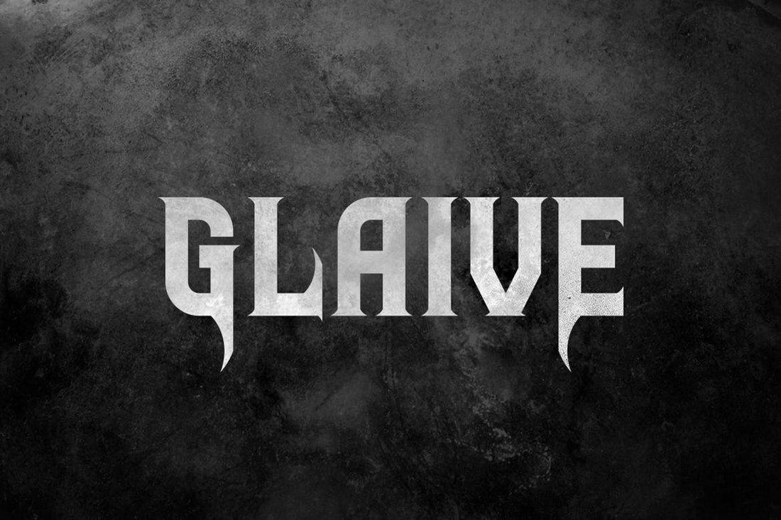 Glaive - Modern Tattoo Font