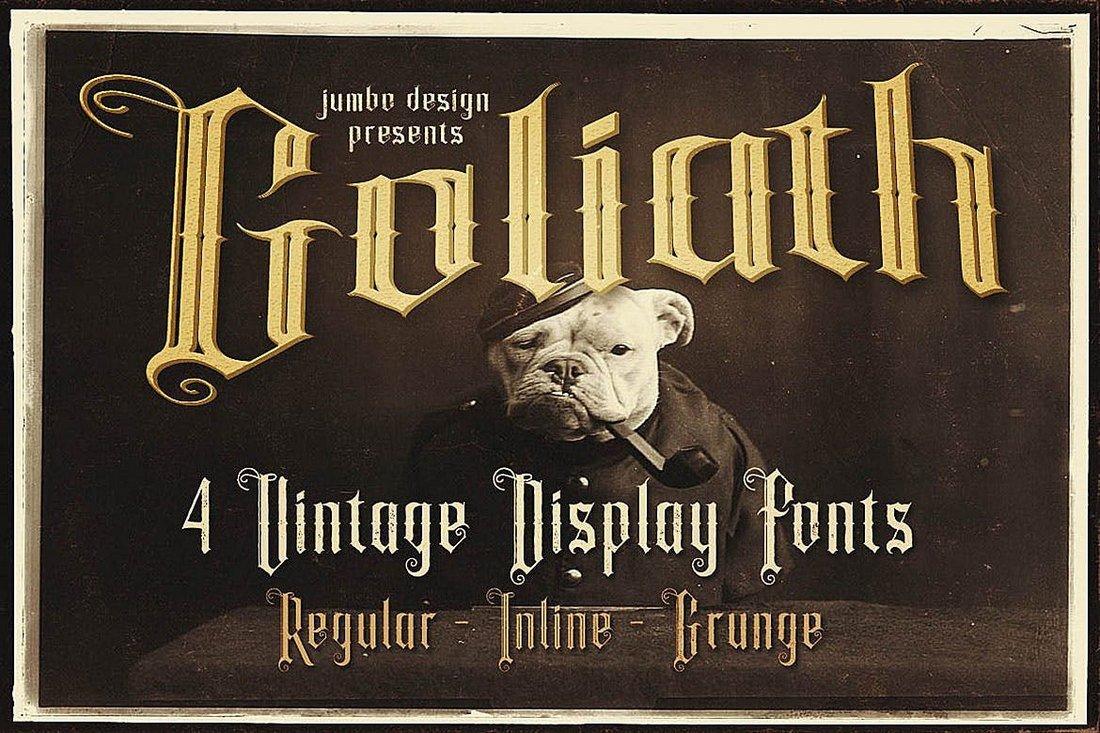 Goliath - Tattoo Style Display Font