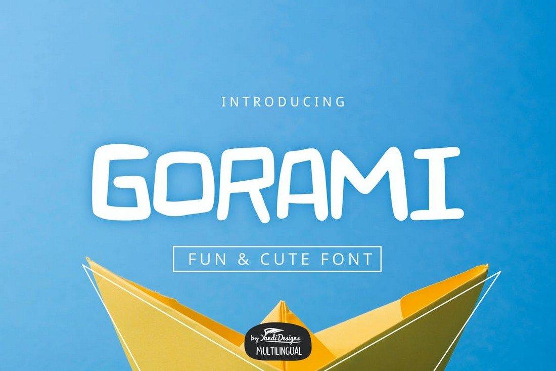 Gorami - Creative YouTube Font