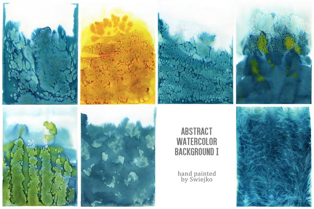 Hand-Painted Abstract Watercolor Backgrounds