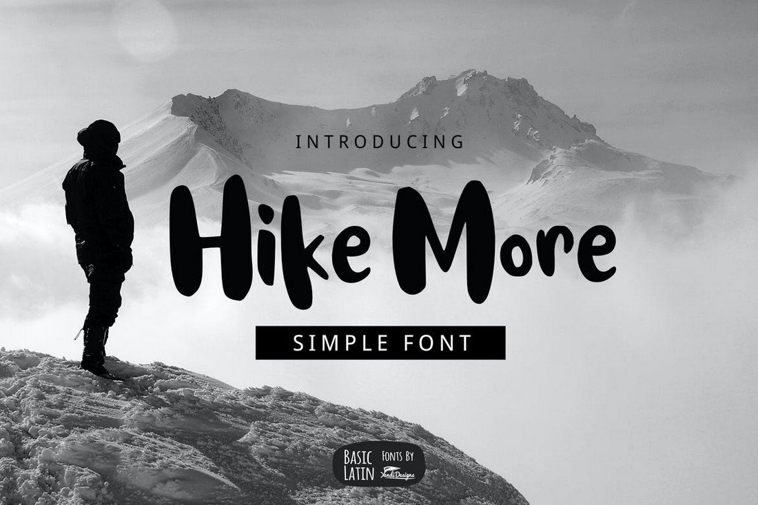 Hike More - Font for Travel Videos