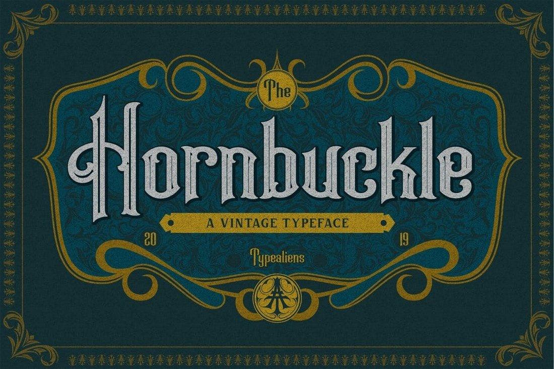Hornbuckle - Vintage Tattoo Font